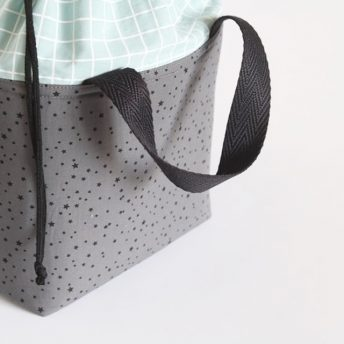 LUNCH BAG 'DARK STAR – GRID'