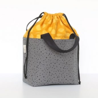 LUNCH BAG 'DARK STAR – MUSTARD'