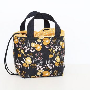 LUNCH BAG 'MUSTARD FLOWERS'