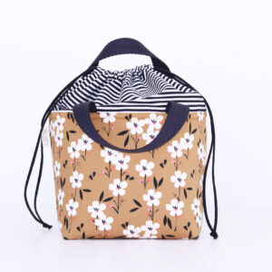 LUNCH BAG SMALL 'FLOWERS CAMEL'